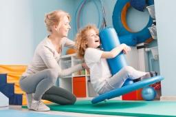 Child doing balance exercises