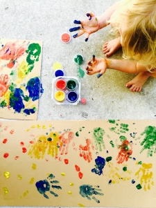 Girl with Finger Paint Mess